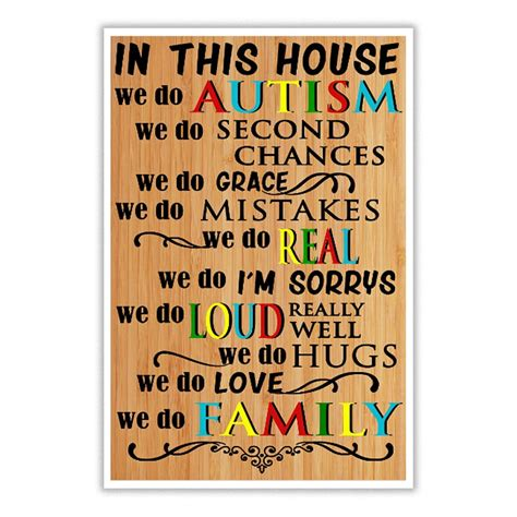 in this house we do poster in this house we do autism we do second chances t shirt bolastyle funny t