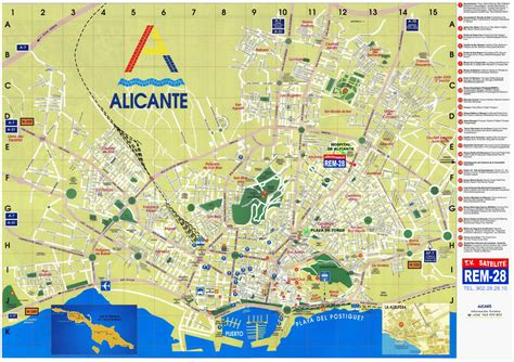 map of alicante city map of spain alicante