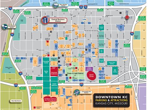 downtown map downtown parking map visit kc