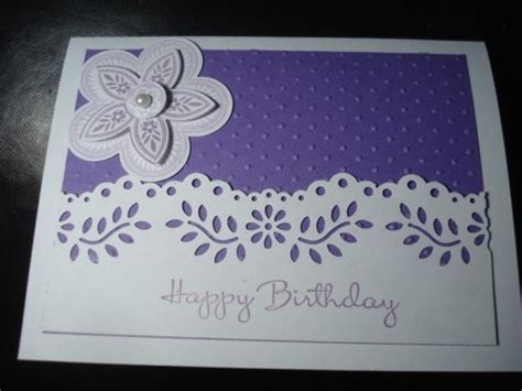 Martha Stewart Handmade Cards - handmade birthday card stin up martha stewart purple