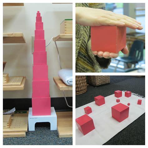 Pink Tower 1 montessori sensorial pink tower