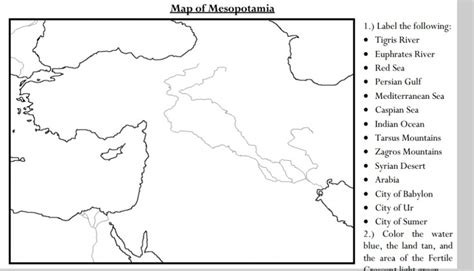mesopotamia map coloring page great map 5th grade history mesopotamia pinterest
