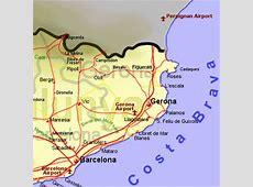 Map of Gerona province L Estartit Costa Brava