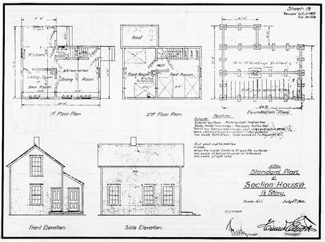 np standard plans section house 1 5 story 1910 sp 13