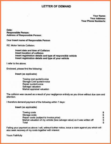 personal injury demand letter template business