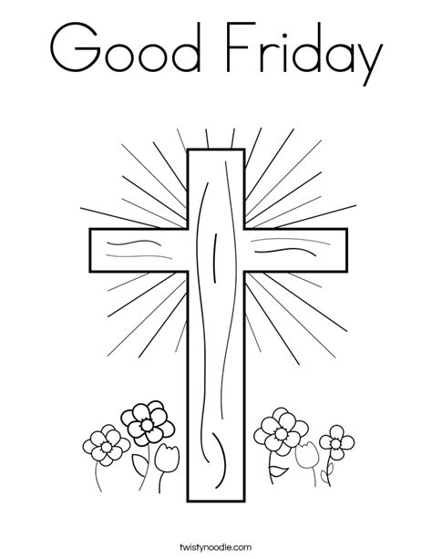 printable coloring pages for good friday good friday coloring page twisty noodle