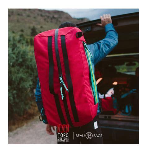 Tas Ransel Mountaineering 60l Ombg24bk topo designs mountain duffle zilver de ideale haul tas voor je gear