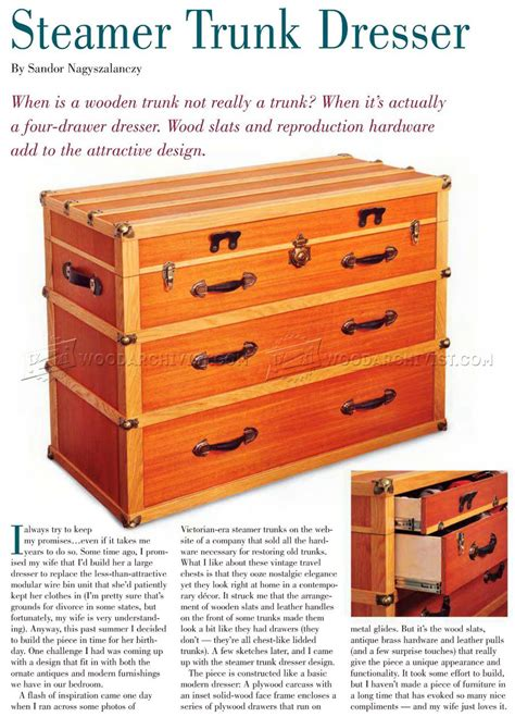 steamer trunk dresser plans steamer trunk dresser plans woodarchivist
