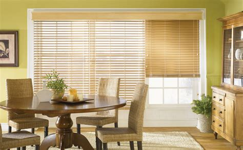 Faux Wood Blinds Traditional Dining Room Other Metro Dining Room Blinds