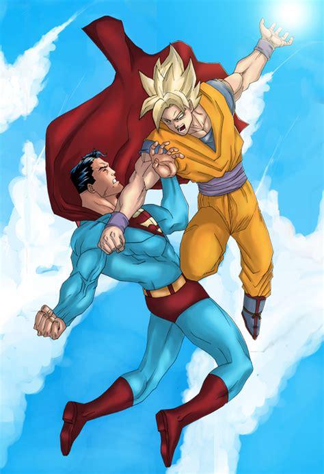 Superman Ls by Goku Vs Superman By Ls Design On Deviantart