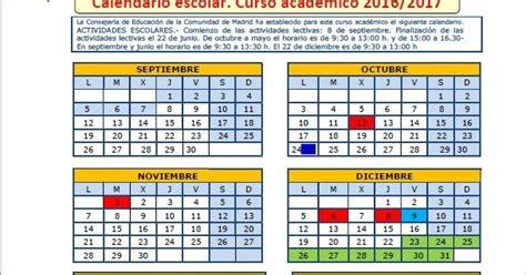 septiembre 2016 p gina 3 calendario 2017 ampa tierno galv 225 n calendario 2016 2017