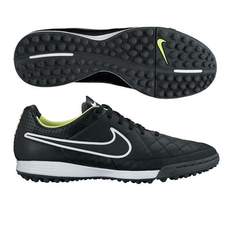89 99 nike tiempo legacy soccer turf shoes black volt