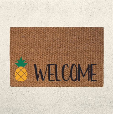 Pineapple Welcome Mat by Pineapple Welcome Doormat Welcome Mat Pineapple Decor