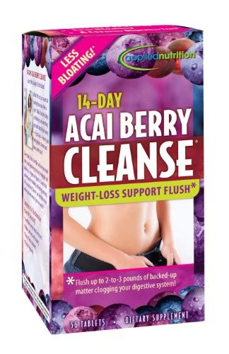 14 Day Cleanse Acai Berry Detox by Applied Nutrition 14 Day Acai Berry Cleanse 56 Ct Jet