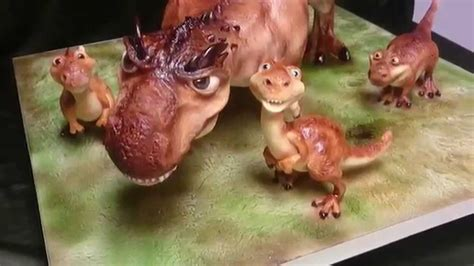 How To Make A 3d Dinosaur Out Of Paper - gravity defying 3d dinosaur cake
