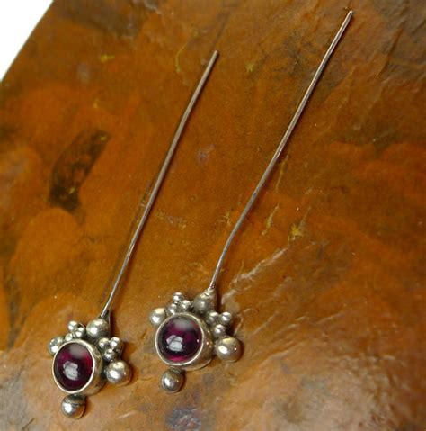headpins for jewelry garnet headpins sterling silver and garnet jewelry