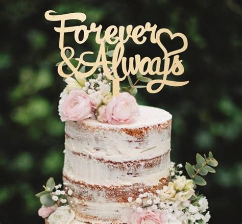 Wooden Cake Topper Forever And Always Cake Topper Custom