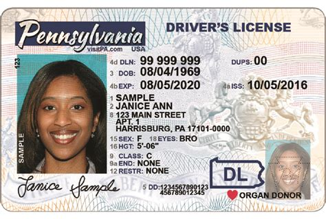 pa license image gallery pennsylvania id