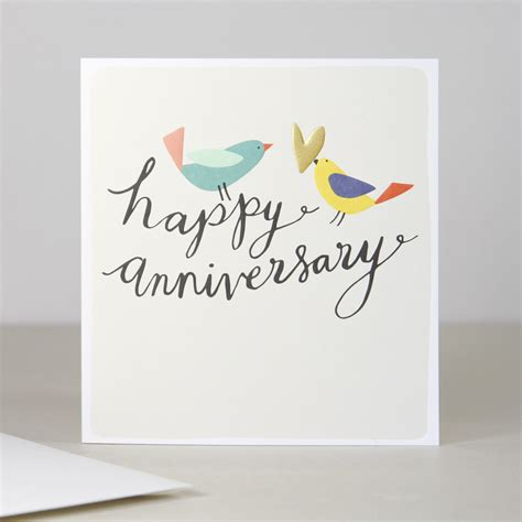 Happy Anniversary Cards birds anniversary card caroline gardner uk