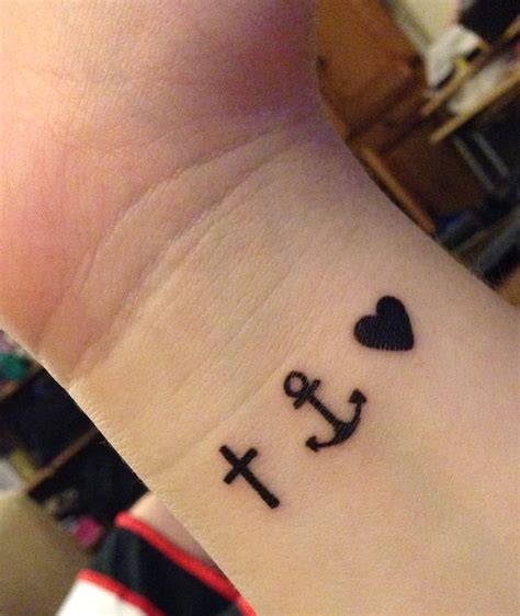 love cross tattoo anchor for strength cross for faith for but