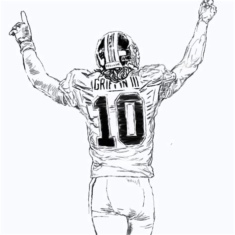 redskins rg3 free coloring pages