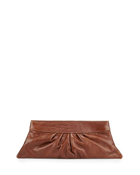 Bag Clutch Bag 9 lyst merkin louise leather clutch bag in brown