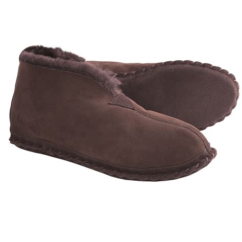 mens bootie style slippers mens sheepskin slipper booties