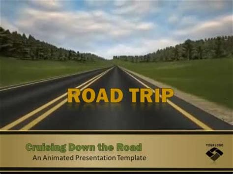 Road Trip A Animated Powerpoint Template From Presentermedia Com Road Powerpoint Template