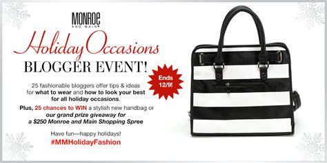 Grand Prize Sweepstakes - holiday occasions blogger event grand prize sweepstakes monroe and main blog