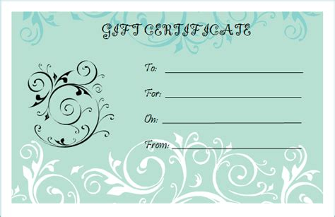 templates for gift certificates free downloads blank gift certificate template