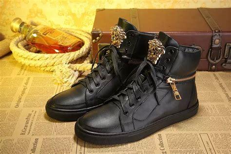 versace sneakers mens versace mens black high top sneakers 24841907 115 00
