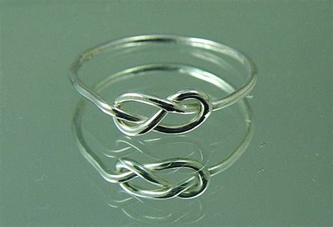 wedding sale silver infinity knot ring promise ring tie