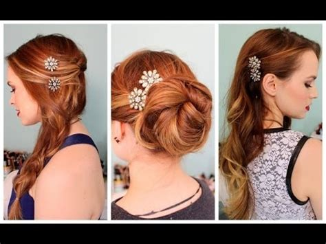 hairstyles using hair ties 3 quick hairstyles for sparkly hair accessories youtube