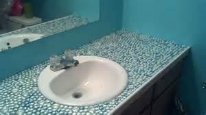 tile countertop bathrooms