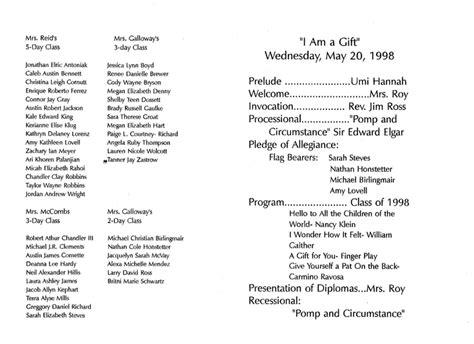 preschool graduation program template 61 best images about prek graduation on