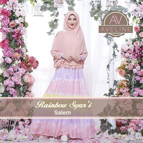 Dress Katun Rainbow rainbow salem baju muslim gamis modern