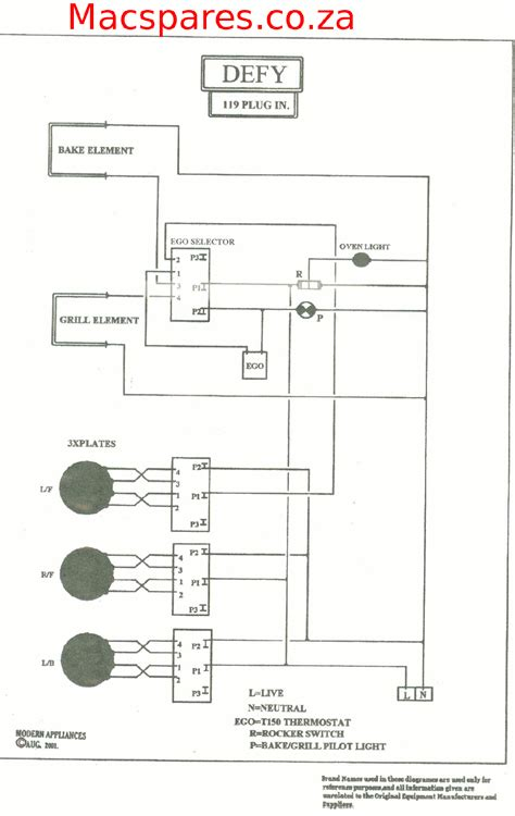 diagram defy 119 in kitchen stove wiring diagram