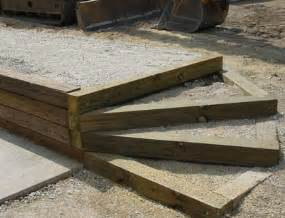 Landscape Timbers 6x6 Timber Wall