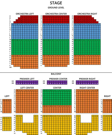 theatre seating chart seating chart temple theatre