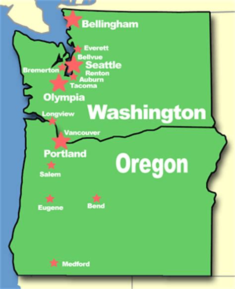 a map of oregon and washington oregon washington map get domain pictures