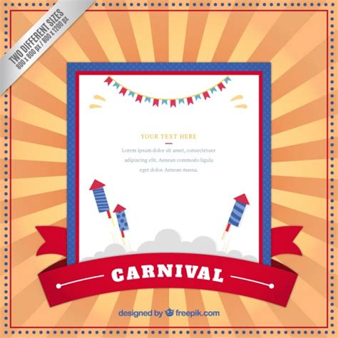 carnival template retro carnival template background vector free