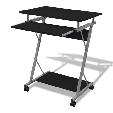 Computer Desk Tray Computer Desk Pull Out Tray Black Furniture Office Student Table Vidaxl