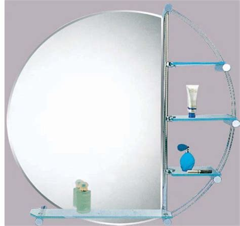 bathroom mirror with glass shelf wall bathroom round mirror with glass shelves ebay