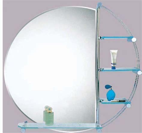 Round Bathroom Mirror With Shelf » Home Design 2017