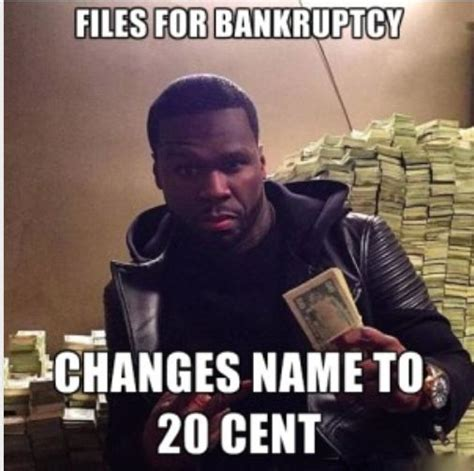 50 Cent Meme - a tumblr created to help 50 cent recover from bankruptcy