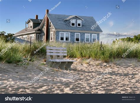 Cottages By The by New Cottage Overlooking Dunes Stock Photo