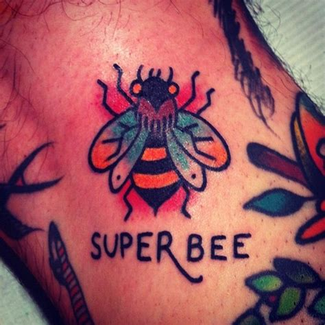 30 traditional bee tattoos