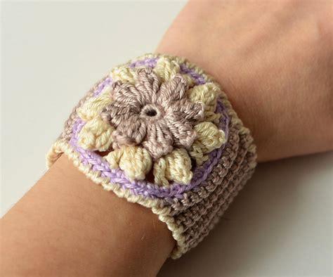 crochet pattern galore crochet patterns galore spring flower bracelet