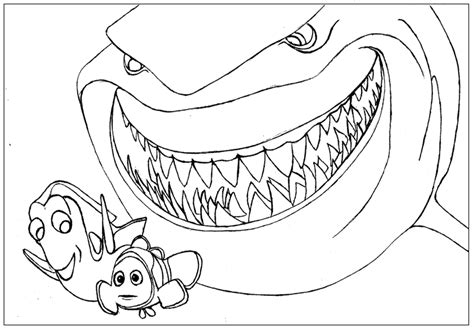 Free Coloring Pages Of Nemo Finding Nemo Coloring Page