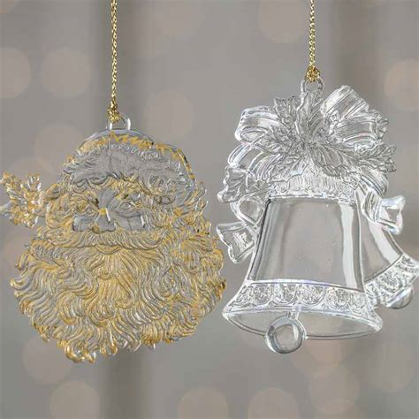 clear acrylic christmas ornament christmas ornaments
